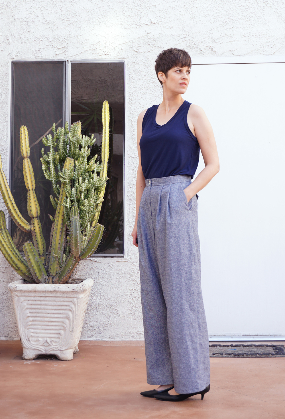 DIY Wide Leg Pants Vogue V8836
