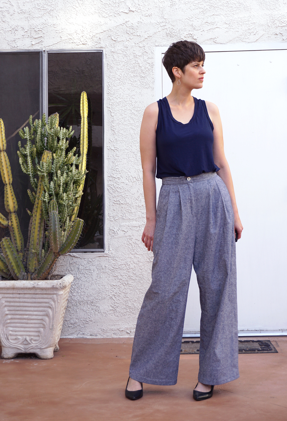 DIY Wide Leg Pants Vogue V8836 — Sew DIY