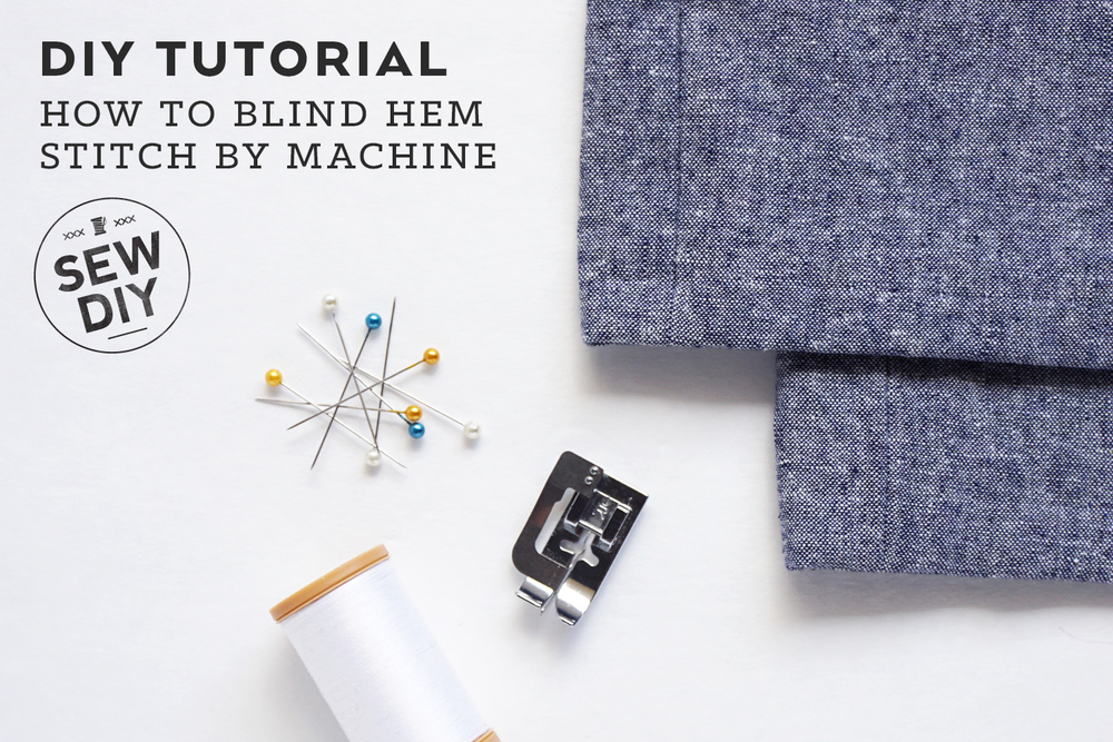 How to Sew a Blind Hem Stitch by Machine | Sew DIY