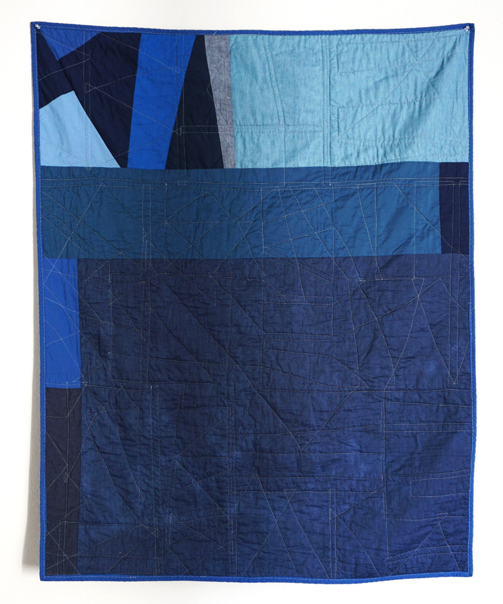DIY Improvised Blue Scrap Quilt | Sew DIY