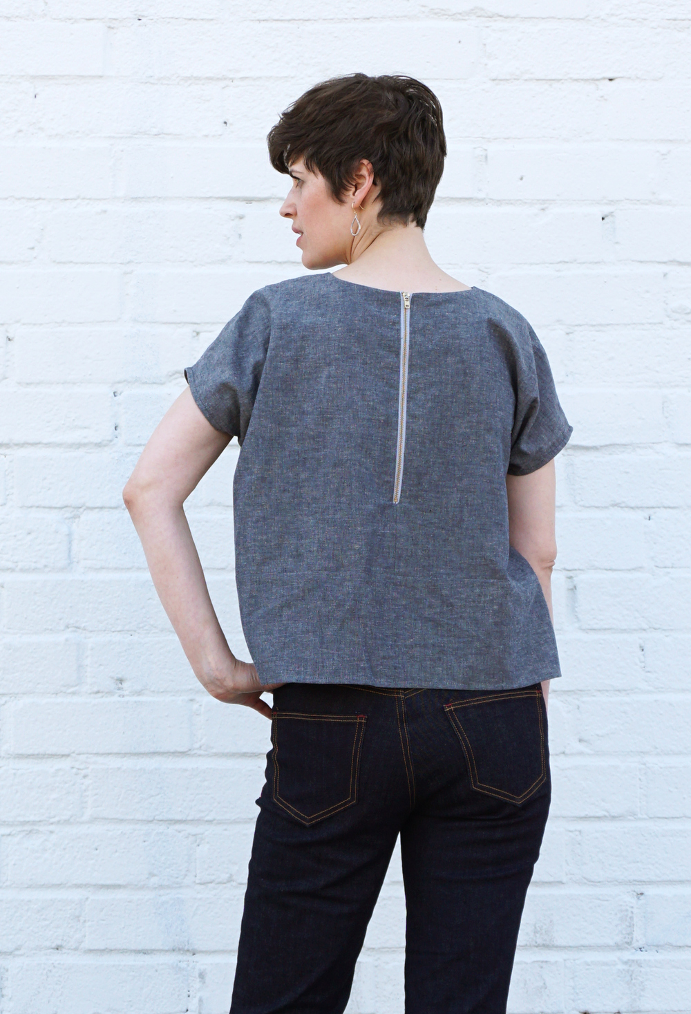 DIY Zip Back Lou Box Top Variation | Sew DIY
