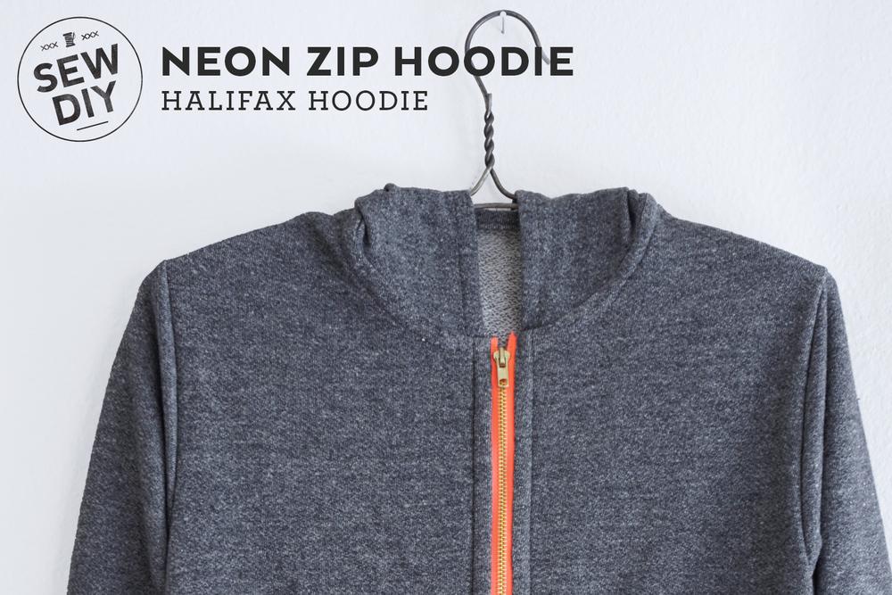 DIY Neon Zip Hoodie – Halifax Hoodie — Sew DIY