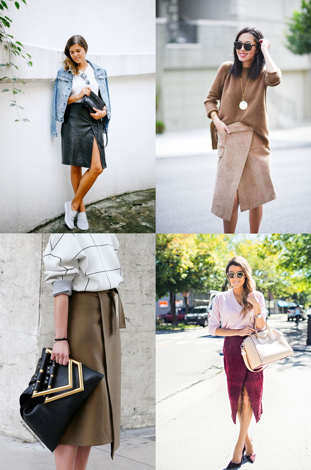 Clockwise from top left: A Pair & A Spare  //  9 to 5 Chic  //  Hello Fashion Blog  //  Snapped