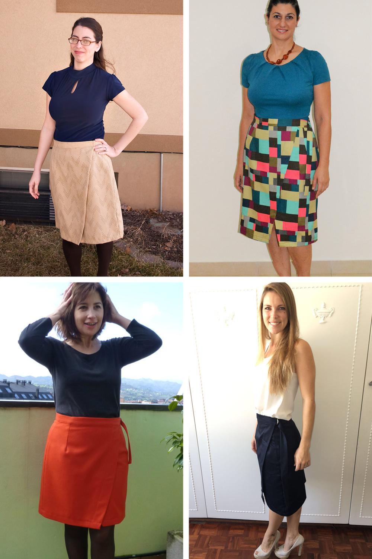 Nita Wrap Skirt Tester Roundup | Sew DIY