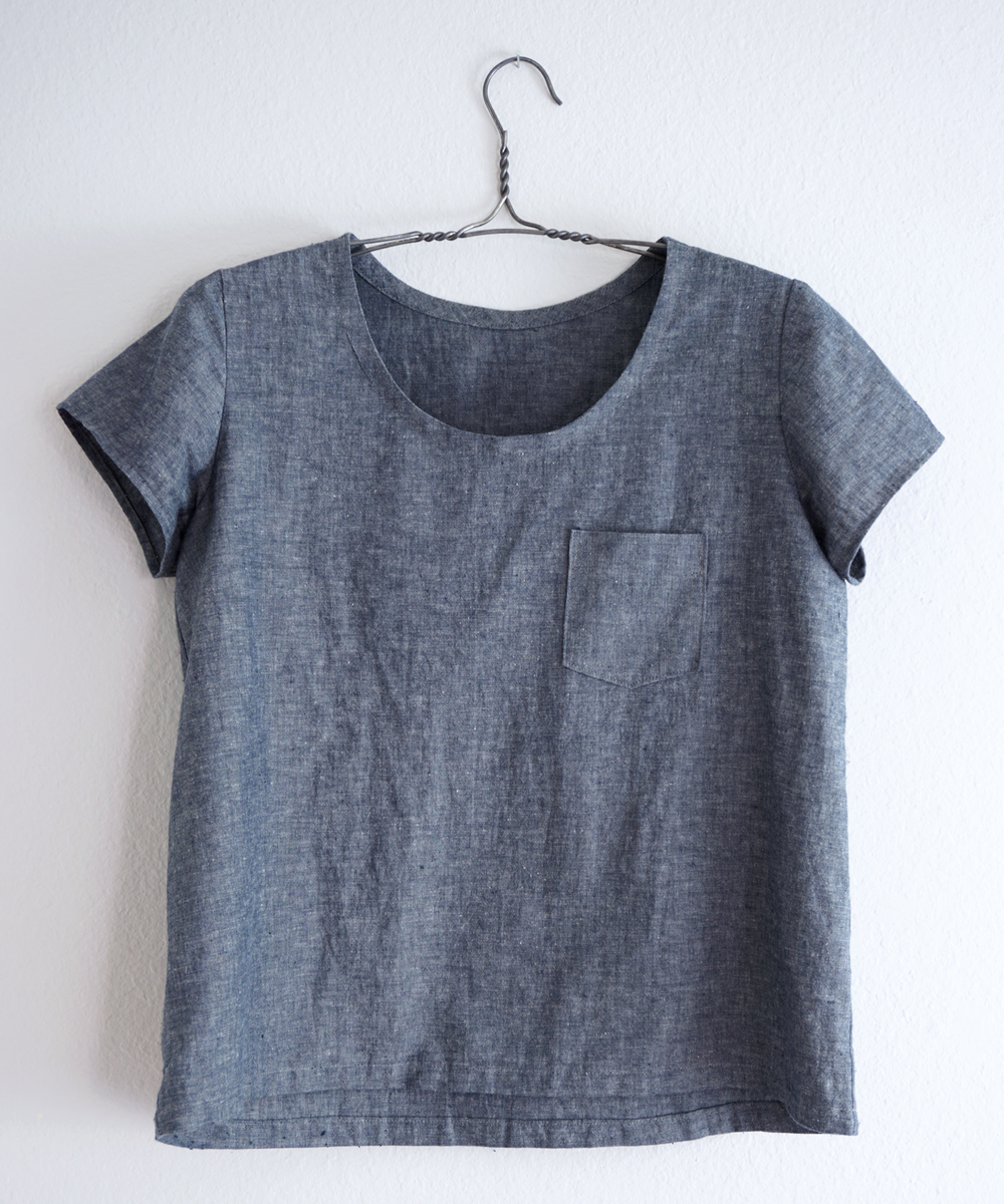 DIY Grey Chambray Scout Tee | Sew DIY