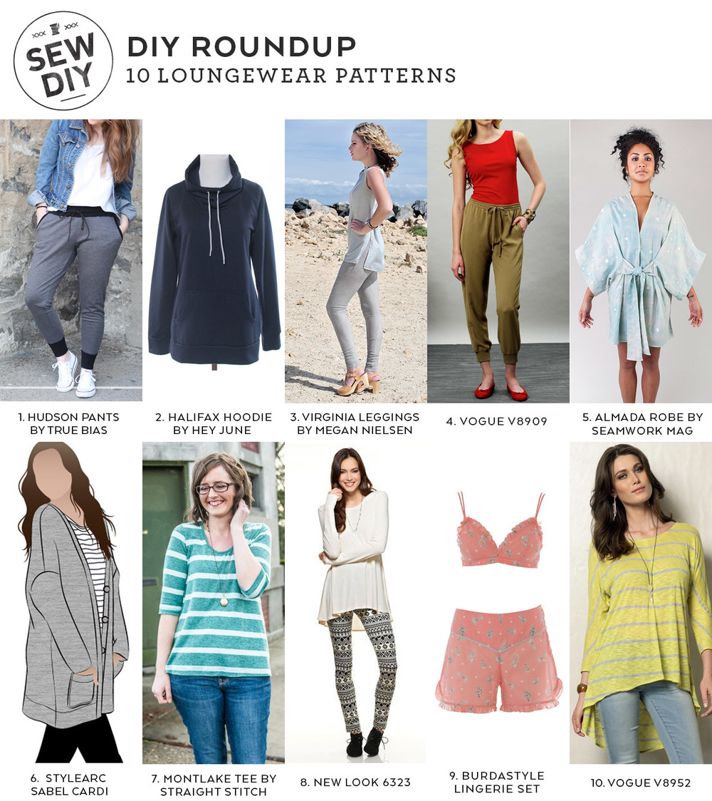 DIY Roundup – 10 Loungewear Sewing Patterns | Sew DIY