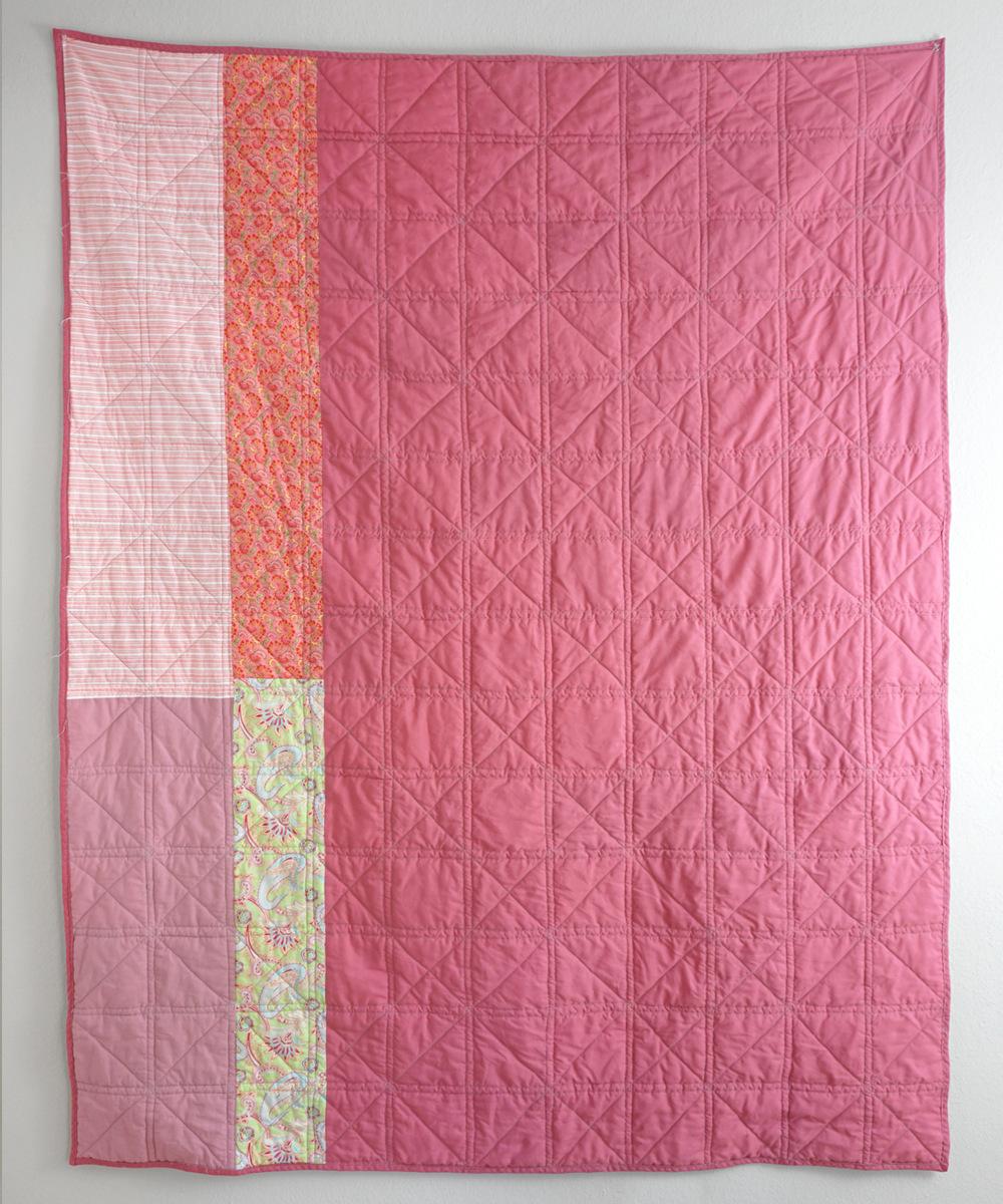 Pink Squares Quilt Back | Sew DIY