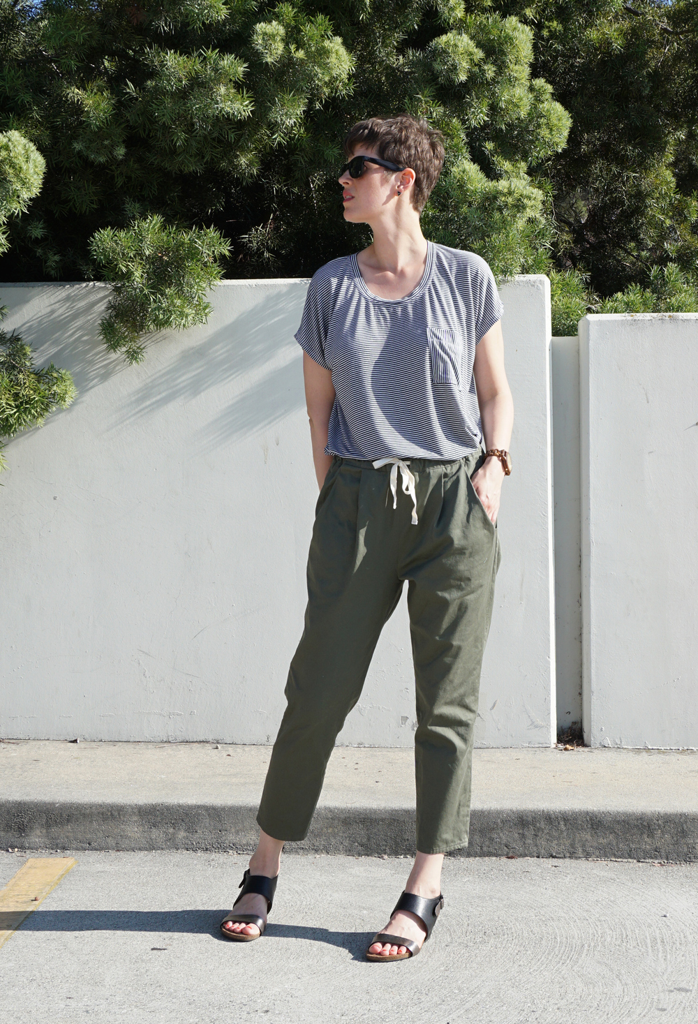 DIY Green Peg Trousers, a review of the Alexandria Trousers pattern by Named Clothing | Sew DIY