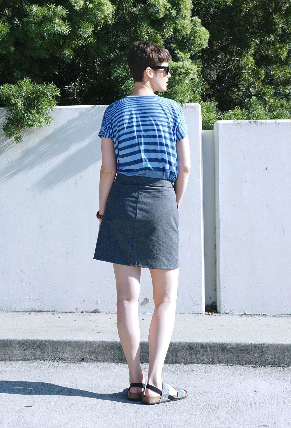 Grey Denim Mini Skirt - Dress Ala