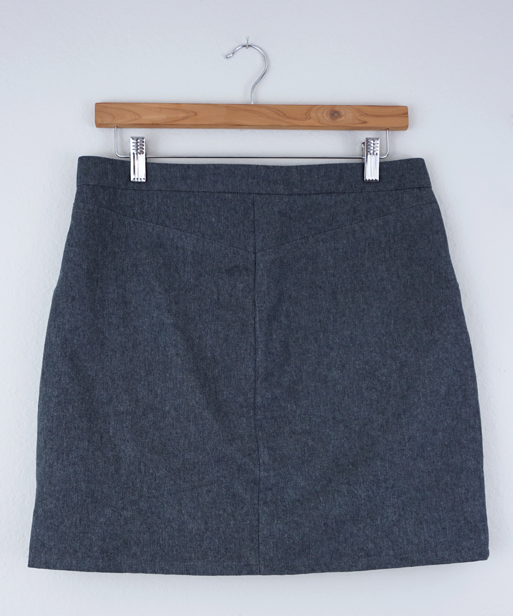 DIY Grey Denim Moss Mini Skirt — Sew DIY
