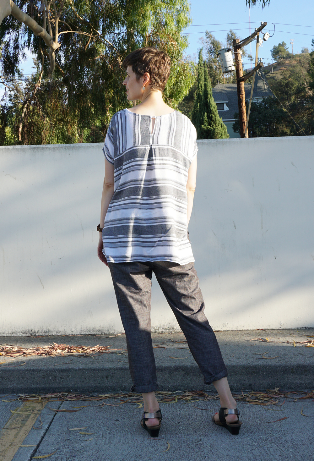 DIY Striped Lou Box Top Tunic Hack | Sew DIY