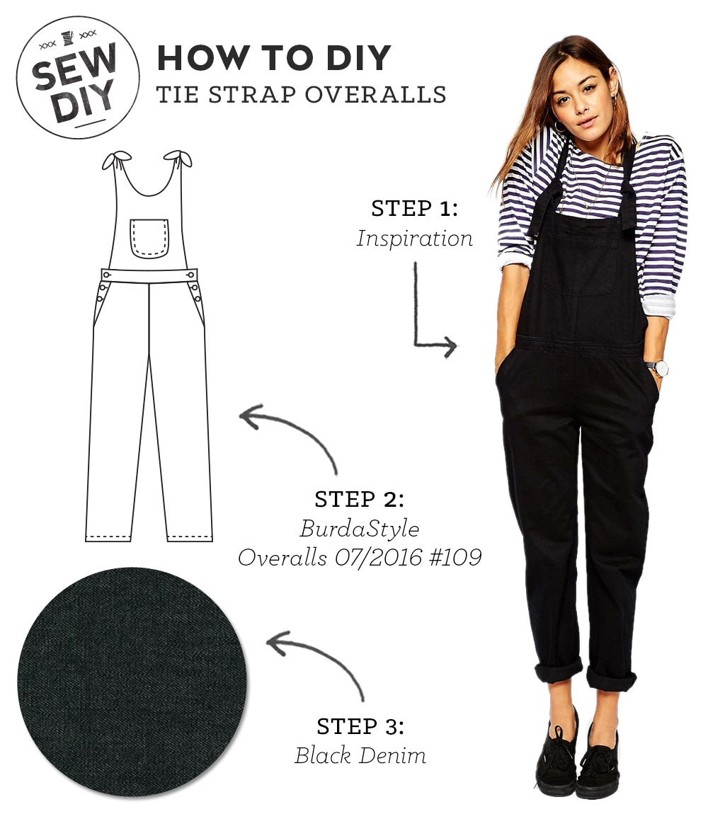 How to DIY Tie Strap Overalls | Sew DIY