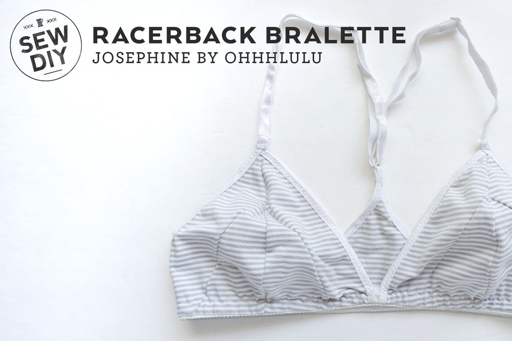 DIY Racerback Bralette, Review of Josephine pattern by OhhhLuLu | Sew DIY