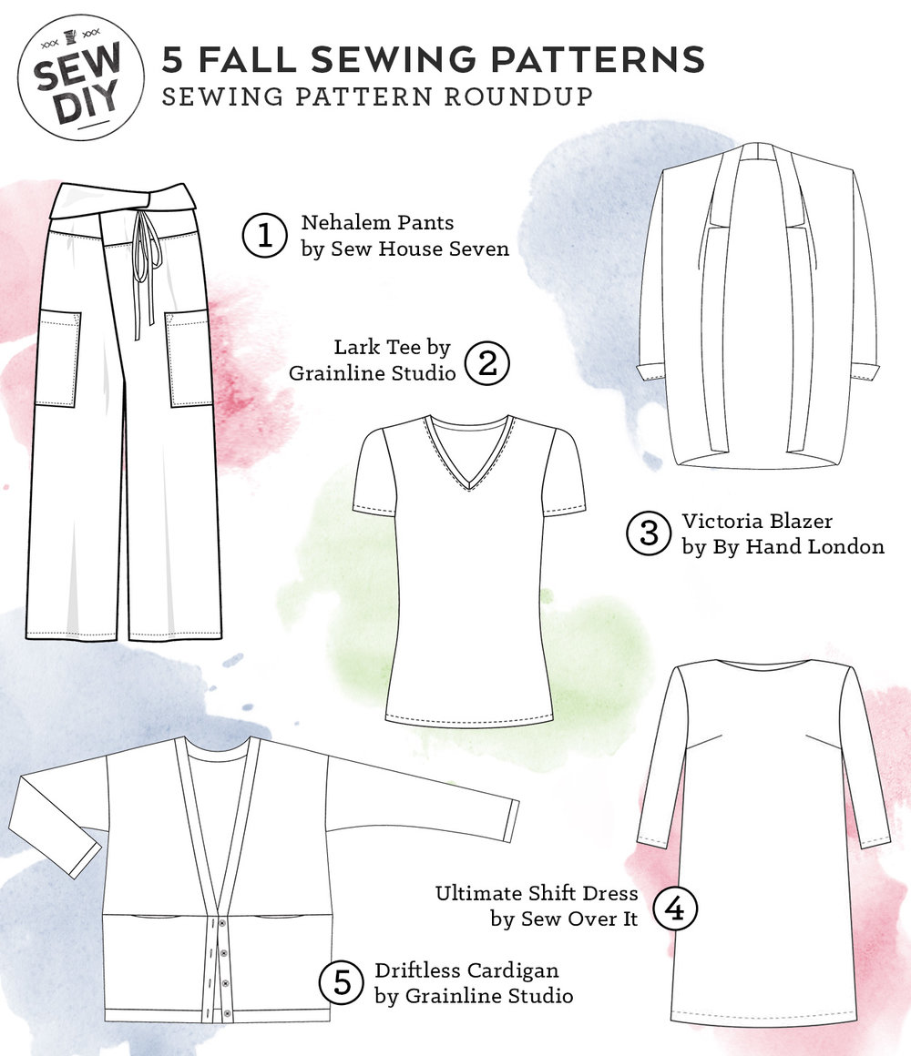 Five fall sewing patterns for a classic wardrobe sew diy sew yourself a classic fall wardrobe with these 5 sewing patterns sew diy solutioingenieria Images
