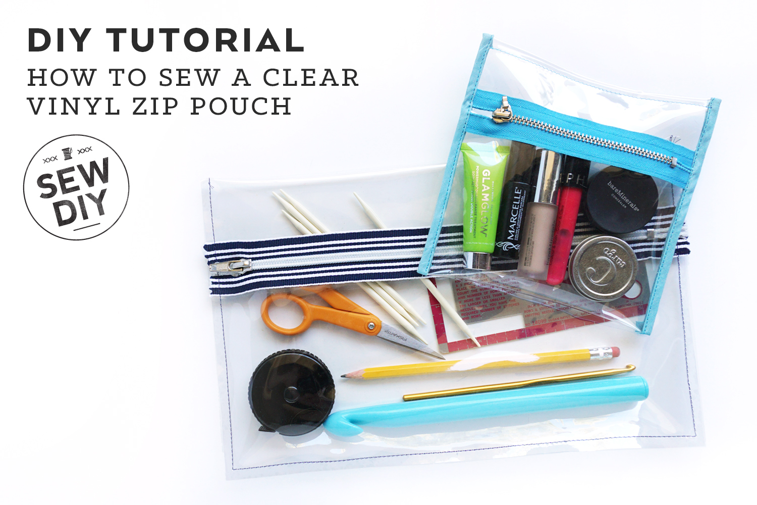 Diy Tutorial Clear Vinyl Zippered Pouch Sew Diy