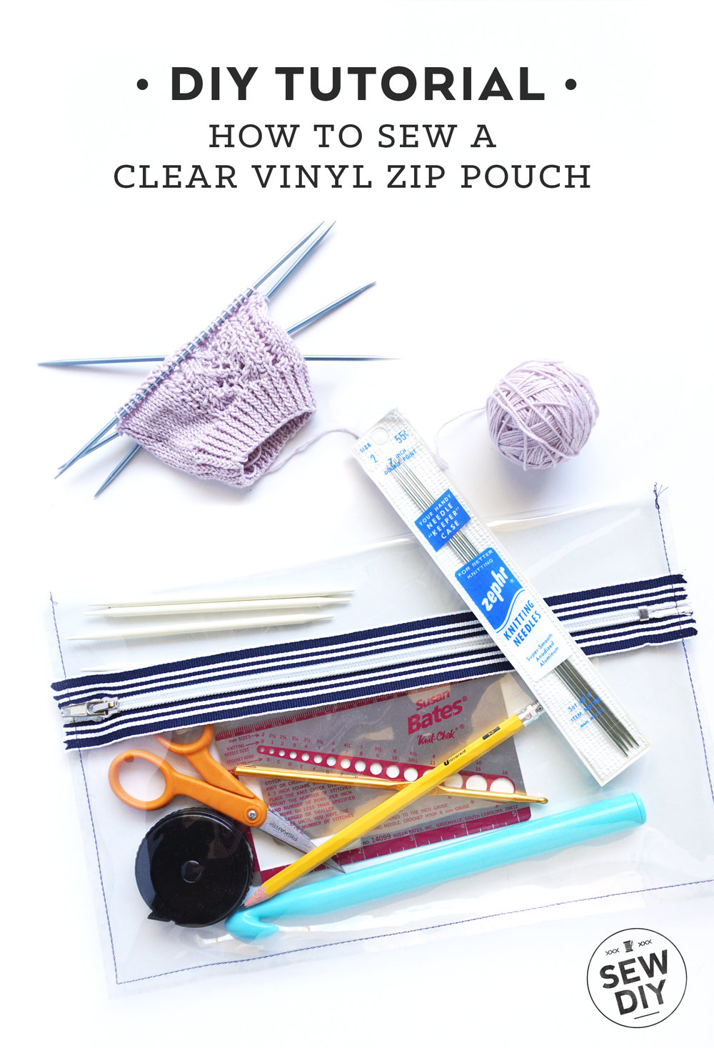 DIY Tutorial – How to sew a Clear Vinyl Zippered Pouch | Sew DIY