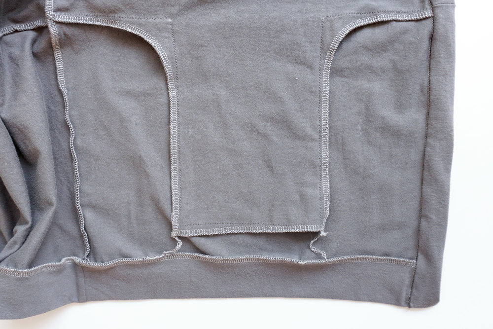 Driftless Cardigan interior thread chain pockets | Sew DIY