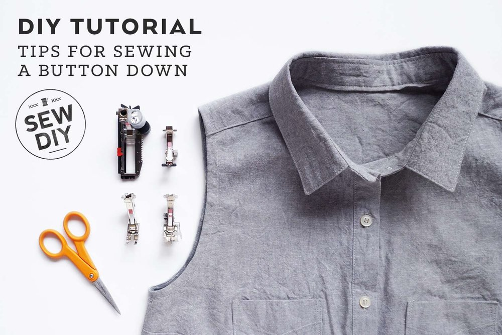 Tips for sewing your first button down | Sew DIY