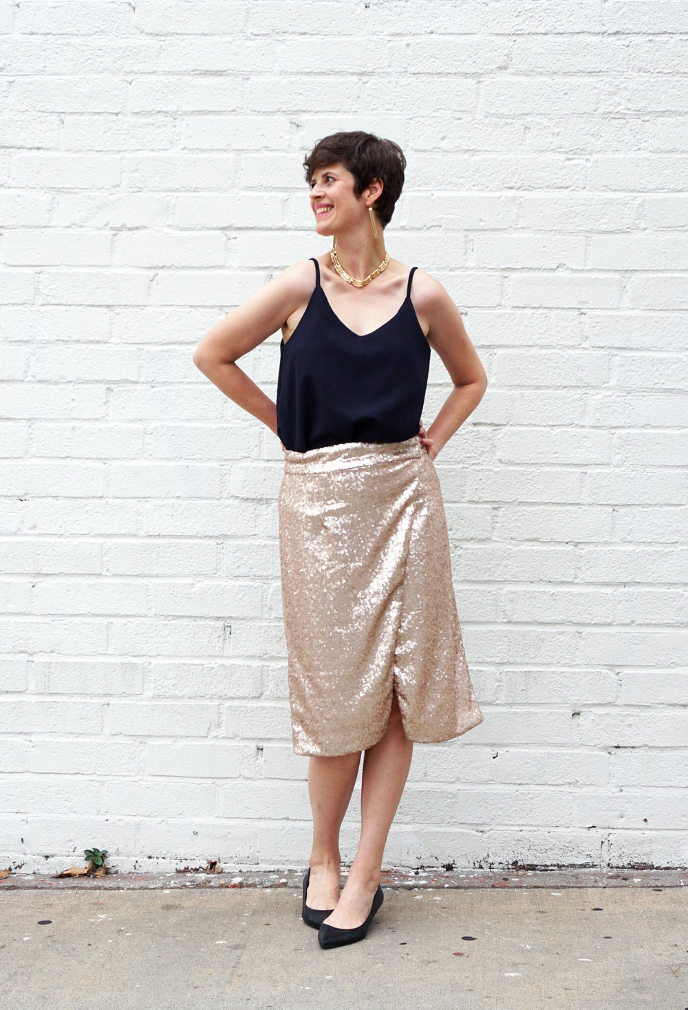 DIY Sequin Nita Wrap Skirt | Sew DIY