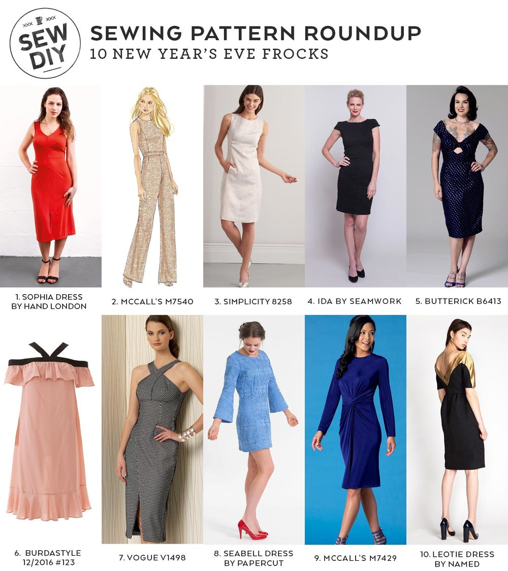 10 New Year's Eve Sewing Patterns | Sew DIY