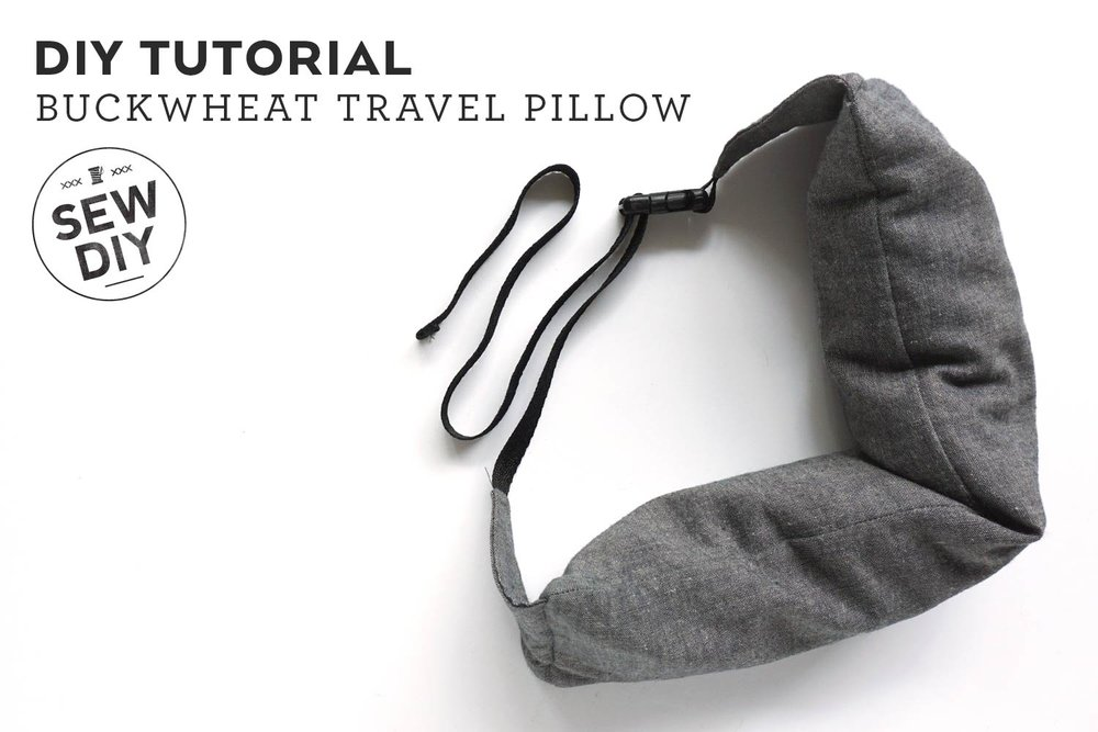 DIY Tutorial Buckwheat Travel Pillow Sew DIY Enchanting Diy Neck Pillow Cover