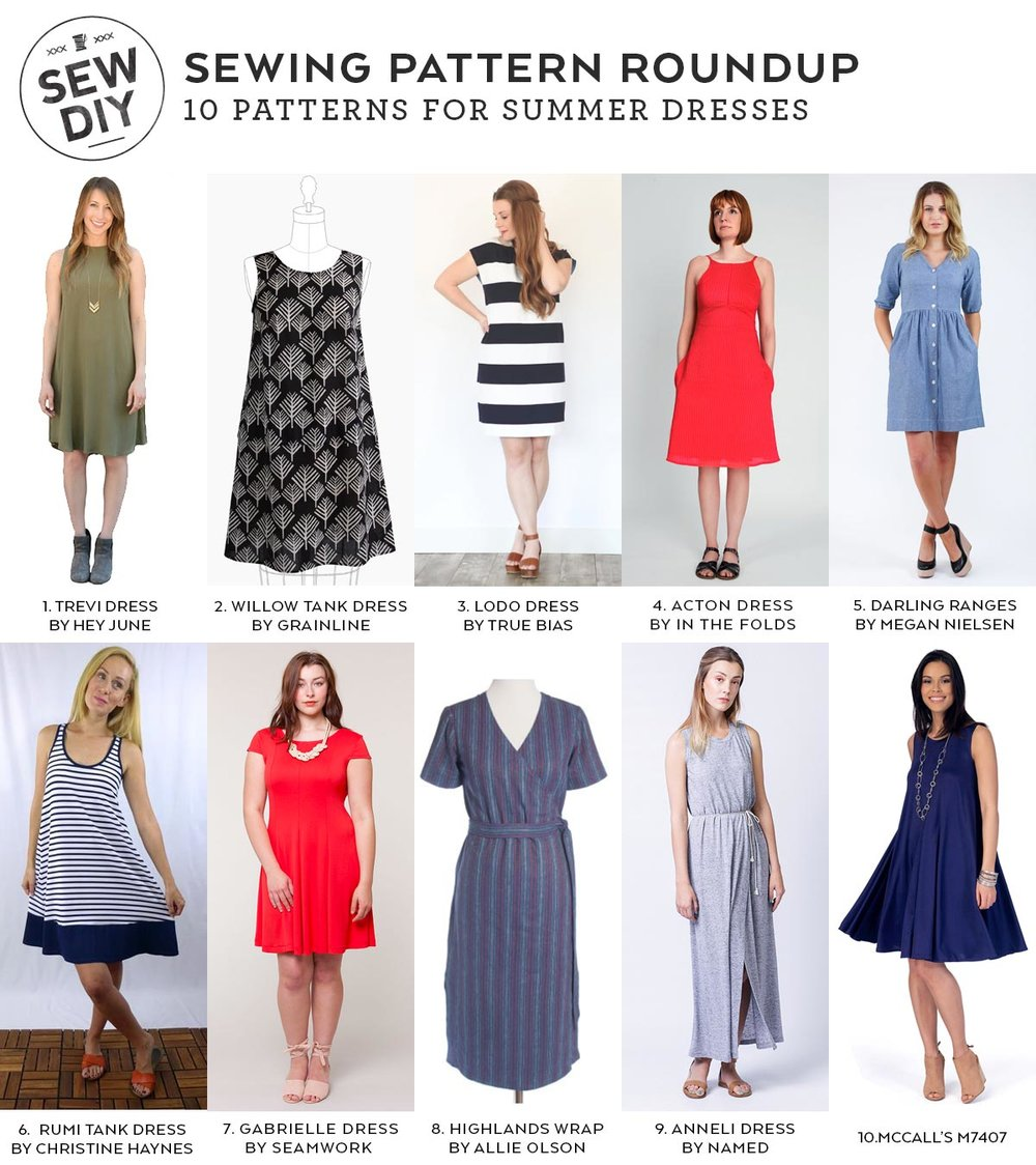 10 Sewing Patterns for Summer Dresses | Sew DIY
