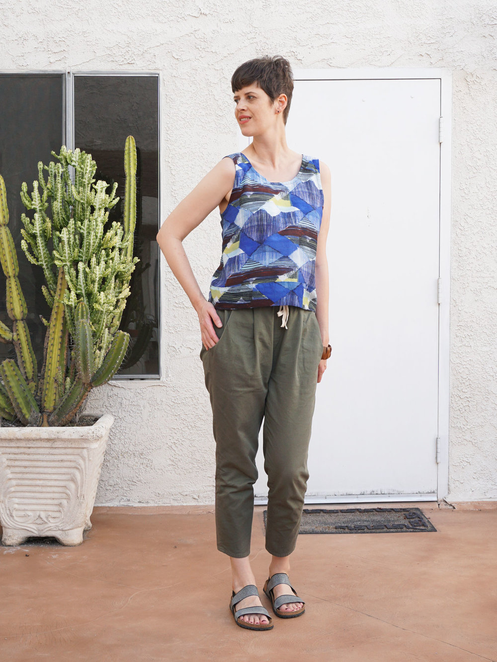 DIY Blue Abstract Top | Sew DIY