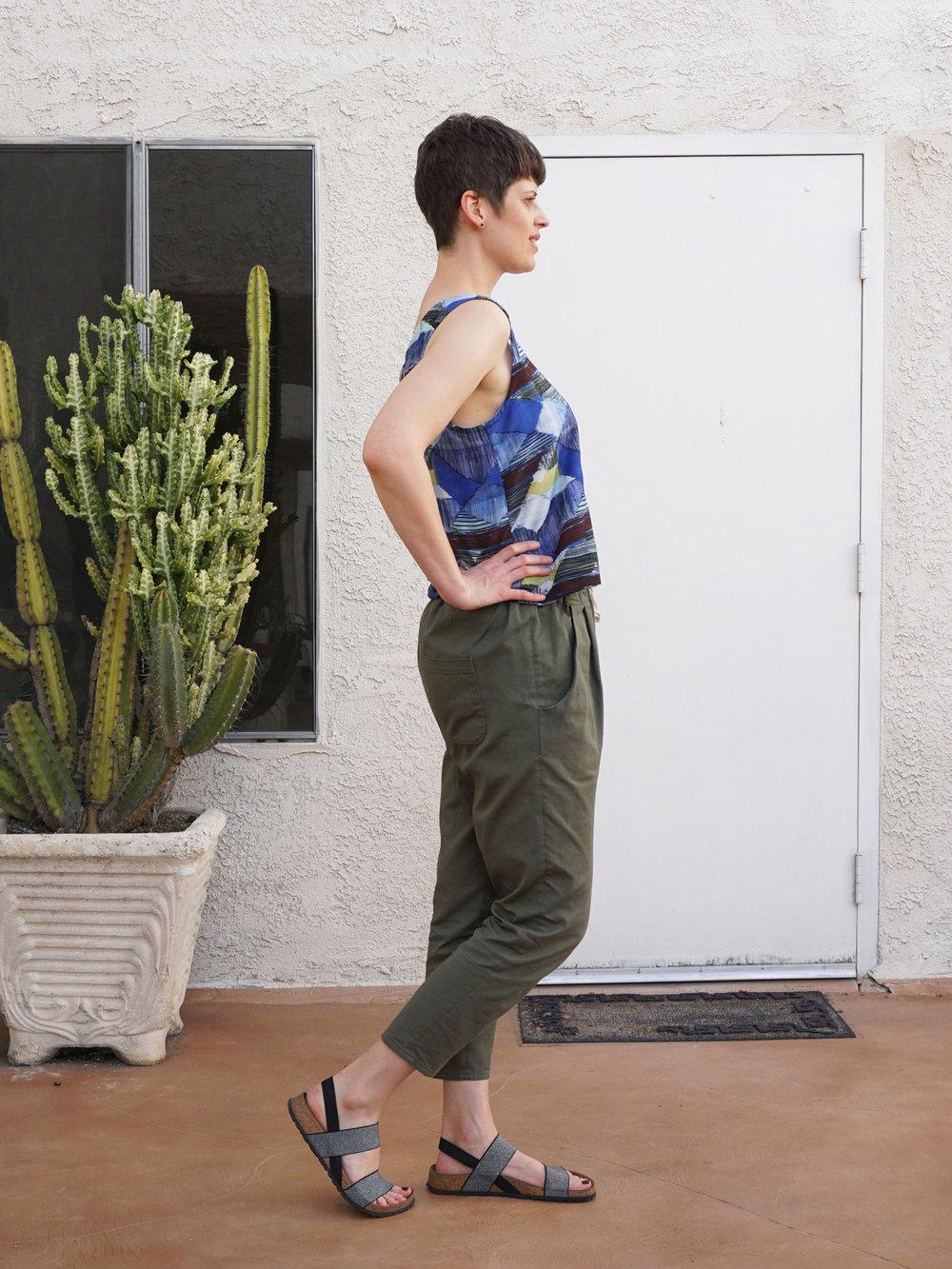 DIY Blue Abstract Top | Sew DIY