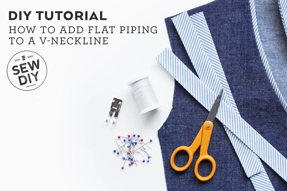 DIY Tutorial – How to Sew Flat Piping Trim
