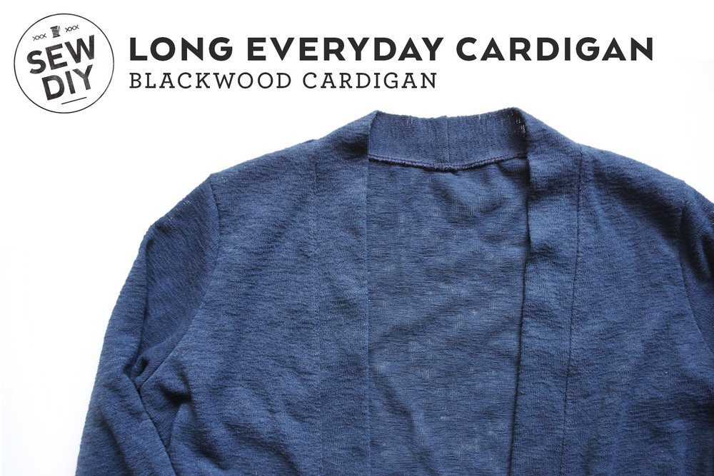 DIY Long Everyday Cardigan | Sew DIY