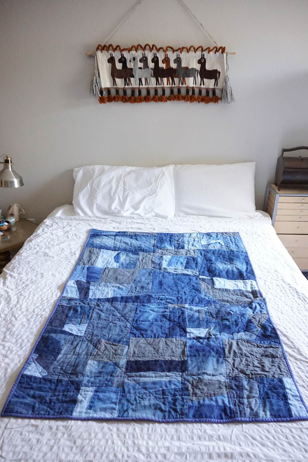 Diy Improvisational Denim Quilt Sew Diy