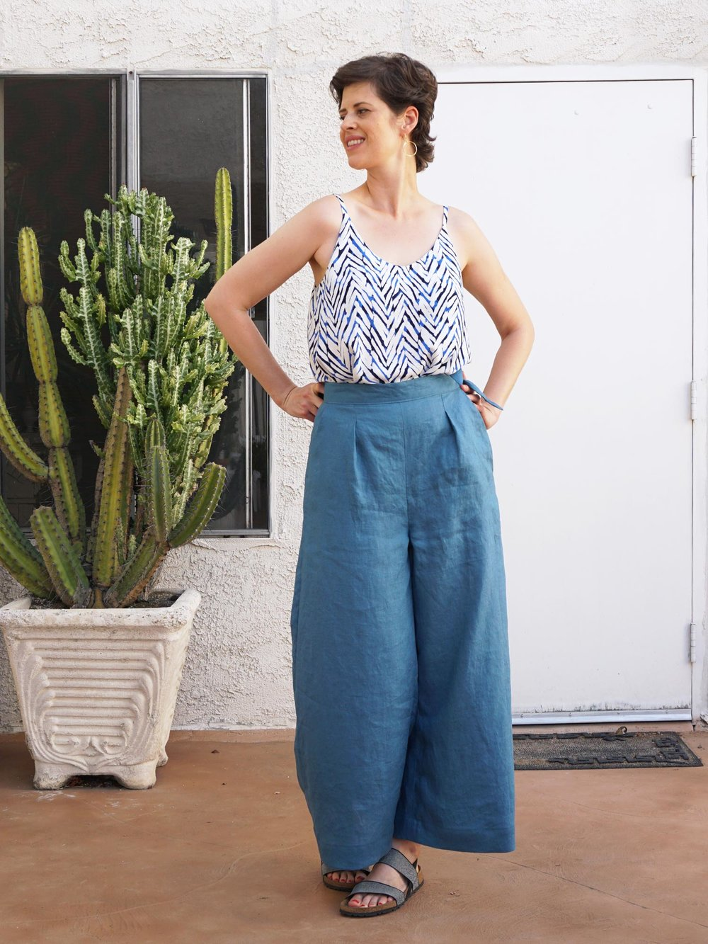 Me Made Summer Outfit –Ogden Cami and Flint Pants | Sew DIY