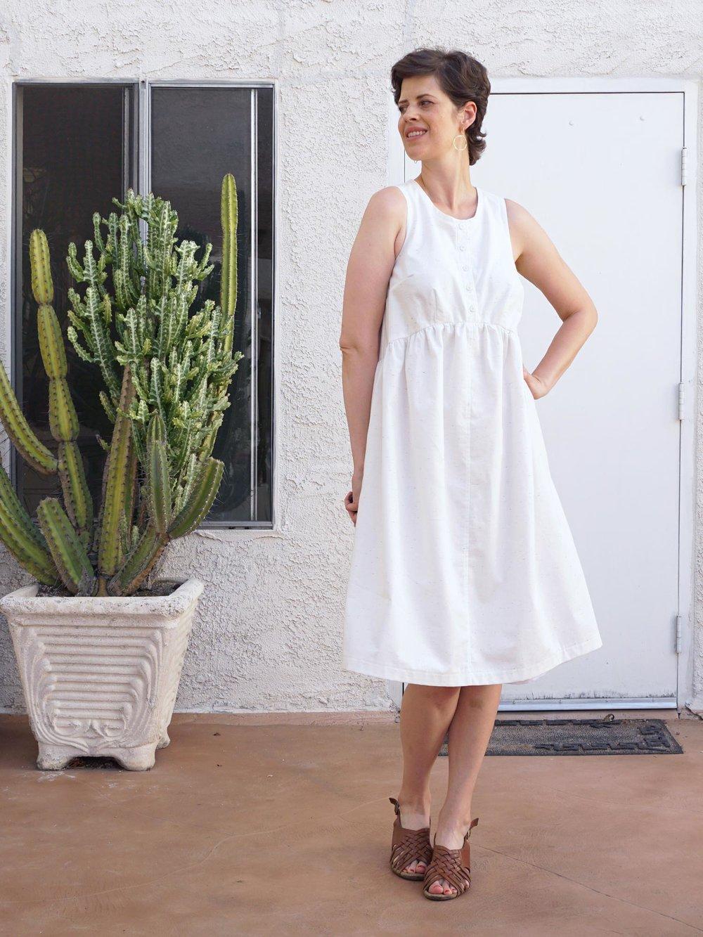DIY White Summer Lisa Dress | Sew DIY