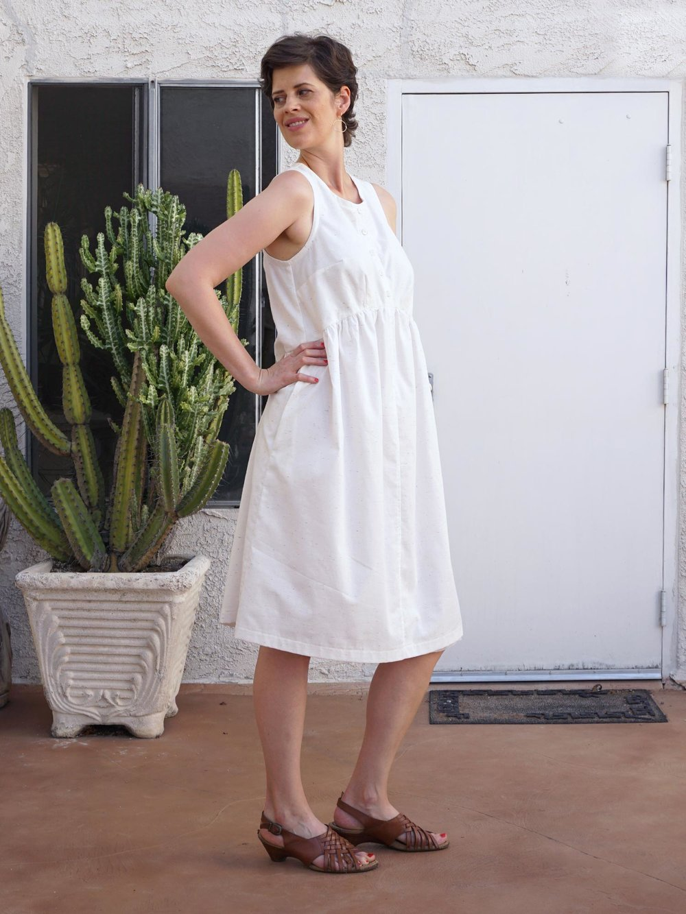 DIY White Summer Lisa Dress | Sew DIY
