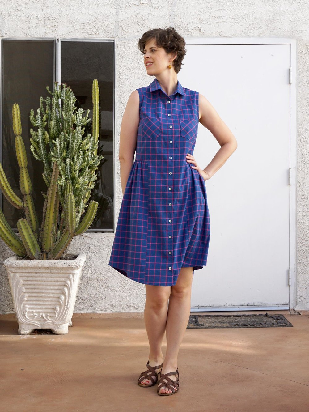 DIY Check Print Alder Shirtdress | Sew DIY
