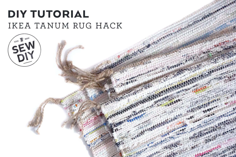 Diy Tutorial Ikea Tanum Rug Hack Sew Diy