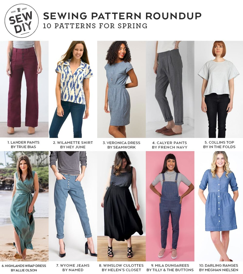 DIY Roundup – 10 Sewing Patterns for Spring | Sew DIY