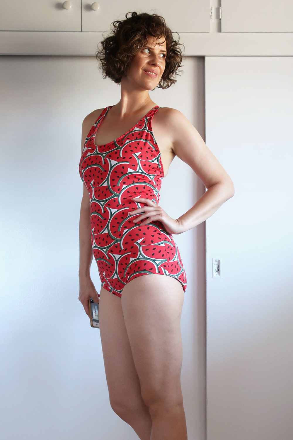 DIY Vintage T-back One-piece Swimsuit, Stretch & Sew 1363 | Sew DIY