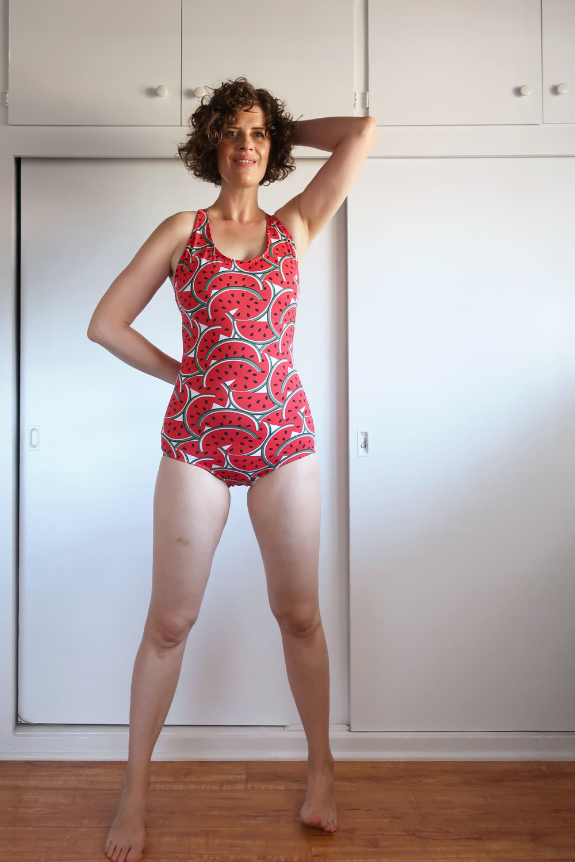 DIY Vintage T-back One-piece Swimsuit, Stretch & Sew 1363 | Sew DIY