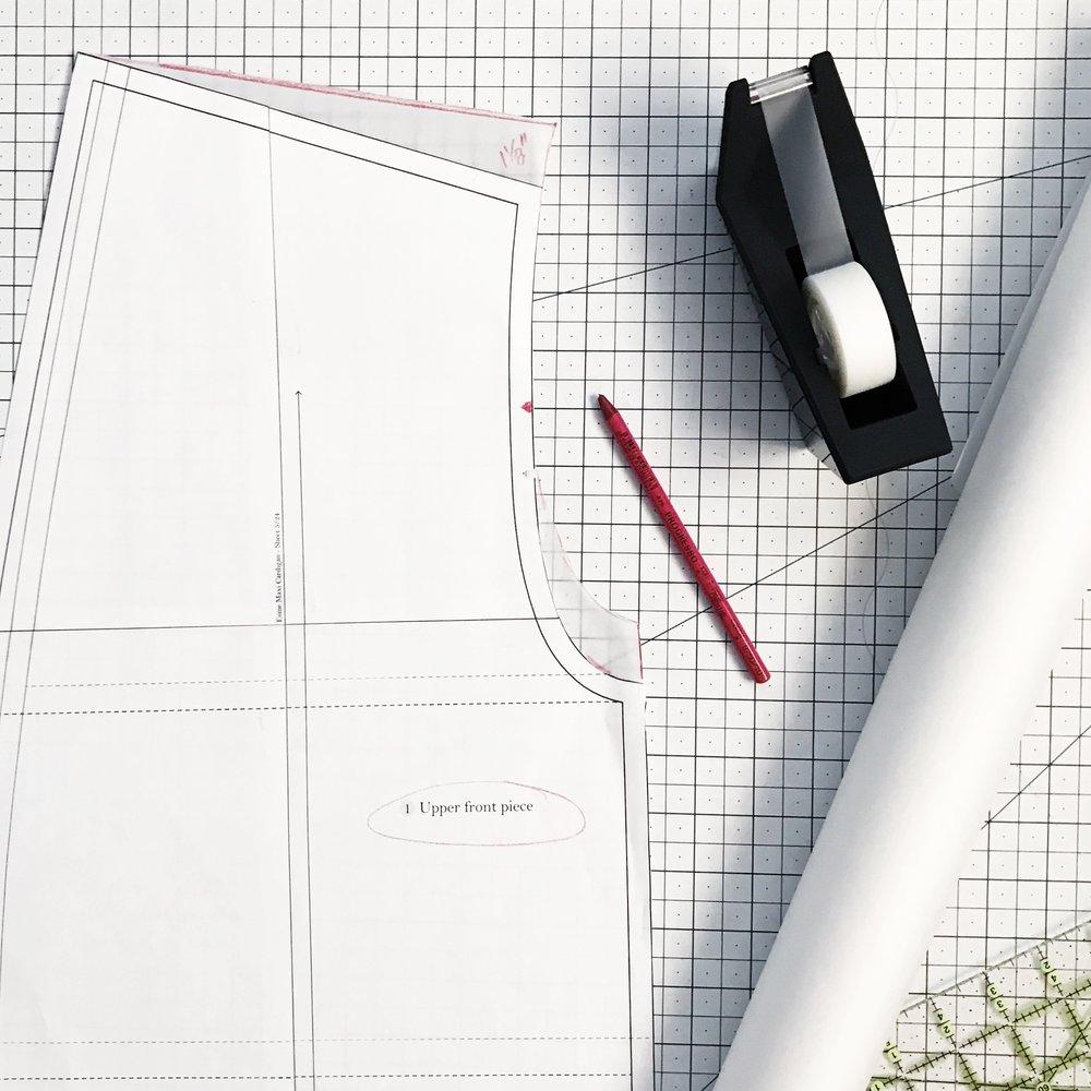 Esme Cardigan Square Shoulder Adjustment | Sew DIY