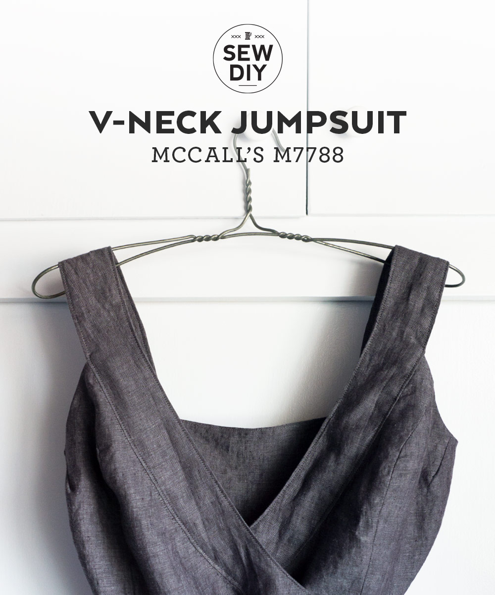 V-neck Linen Jumpsuit – Review of McCalls M7788 | Sew DIY