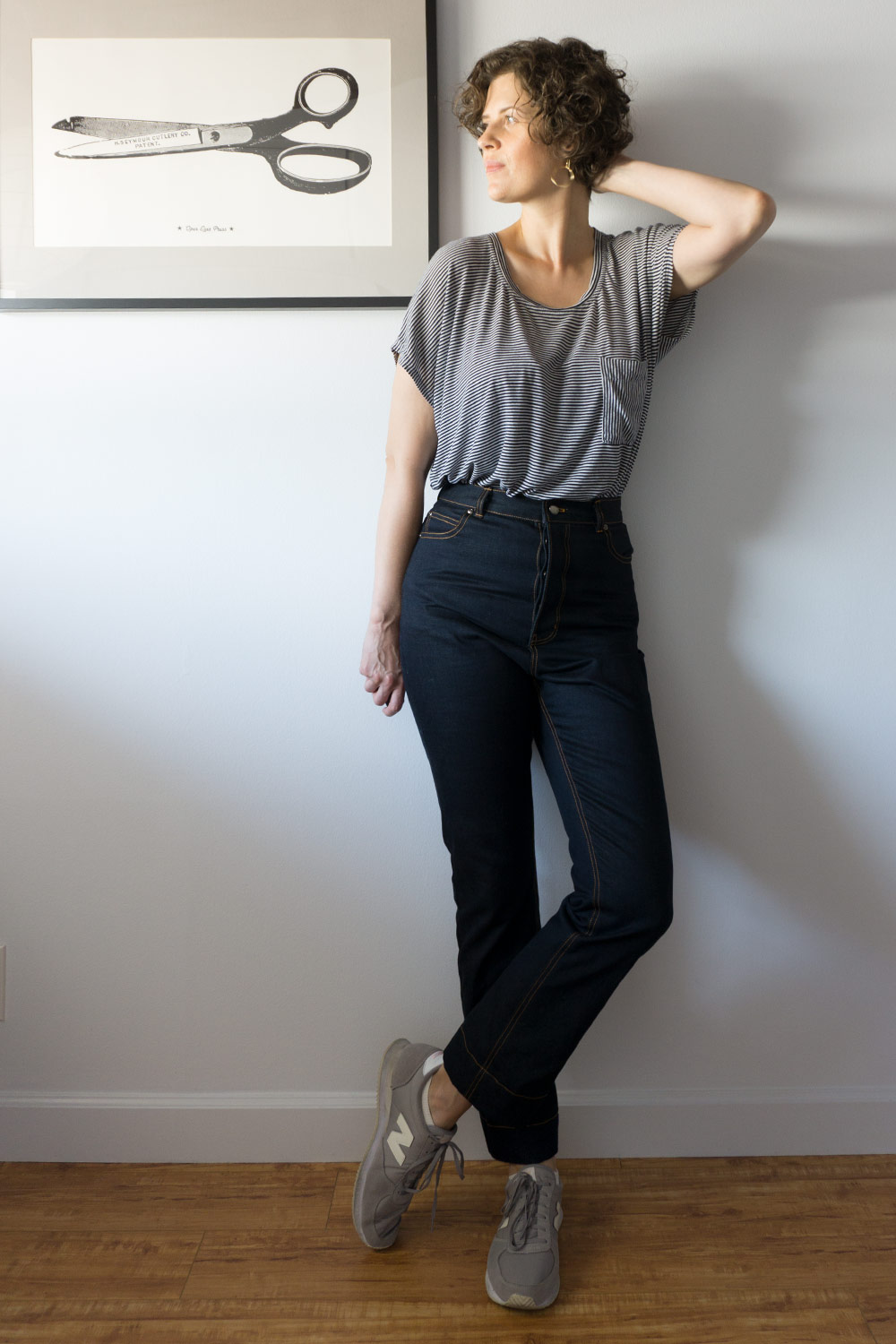 DIY High Rise Rigid Jeans - Megan Nielsen Dawn Jeans | Sew DIY