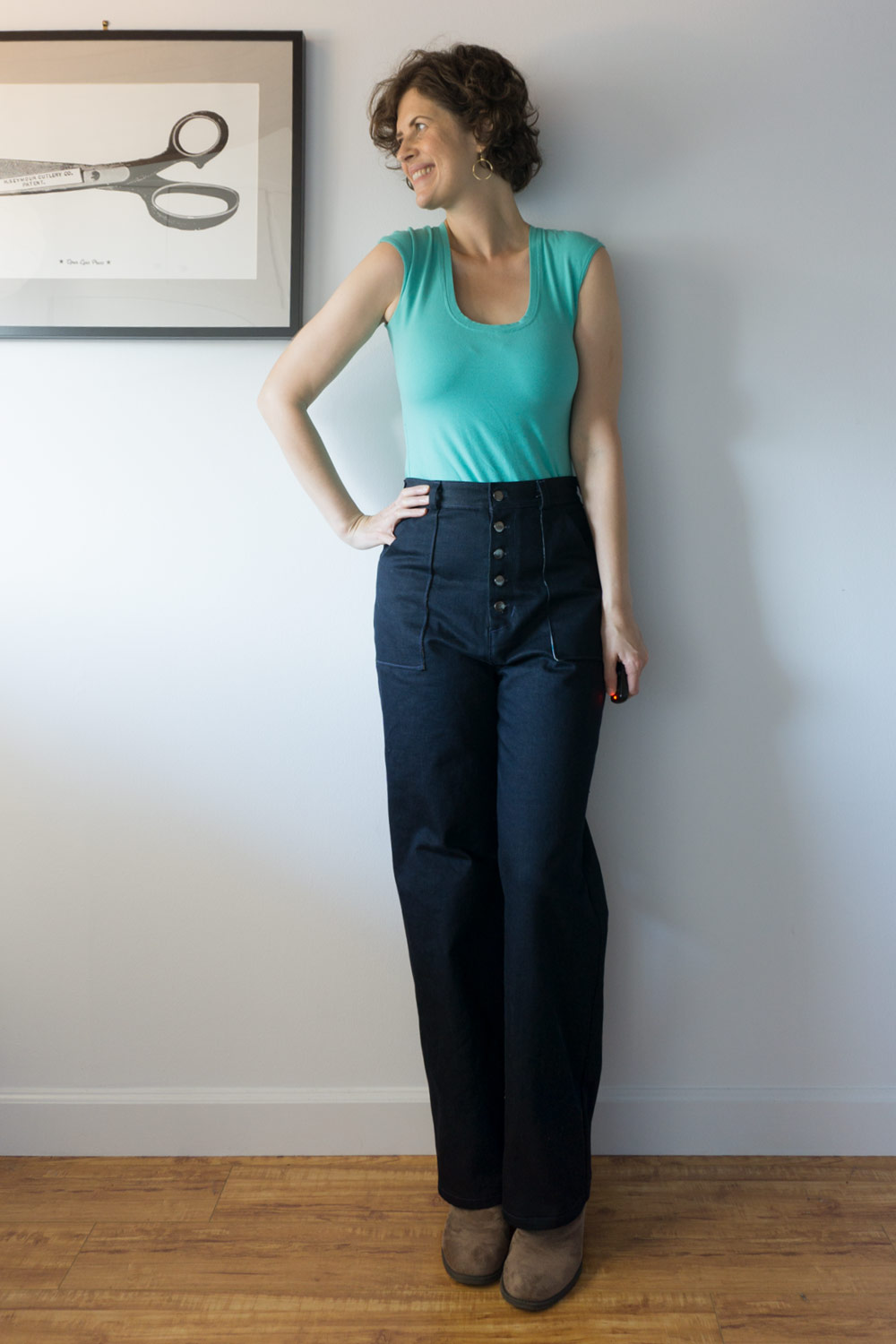 DIY Denim Sailor Pants – Review of the Lander Pants by True Bias | Sew DIY
