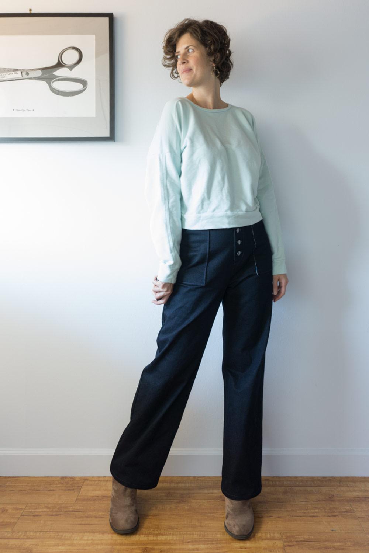 DIY Denim Sailor Pants –Review of the Lander Pants by True Bias | Sew DIY