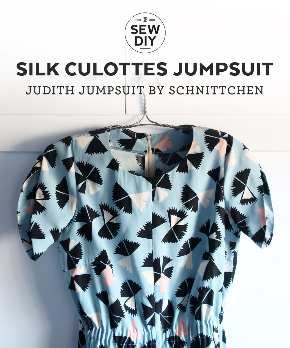 DIY Silk Culottes Jumpsuit – Review of the Judith Jumpsuit by Schnitten | Sew DIY