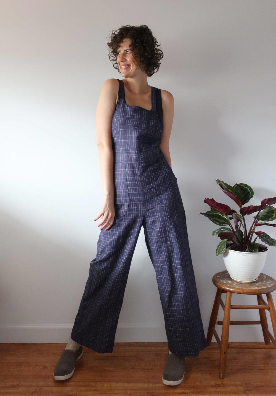 Check Burnside Bibs - Sew DIY