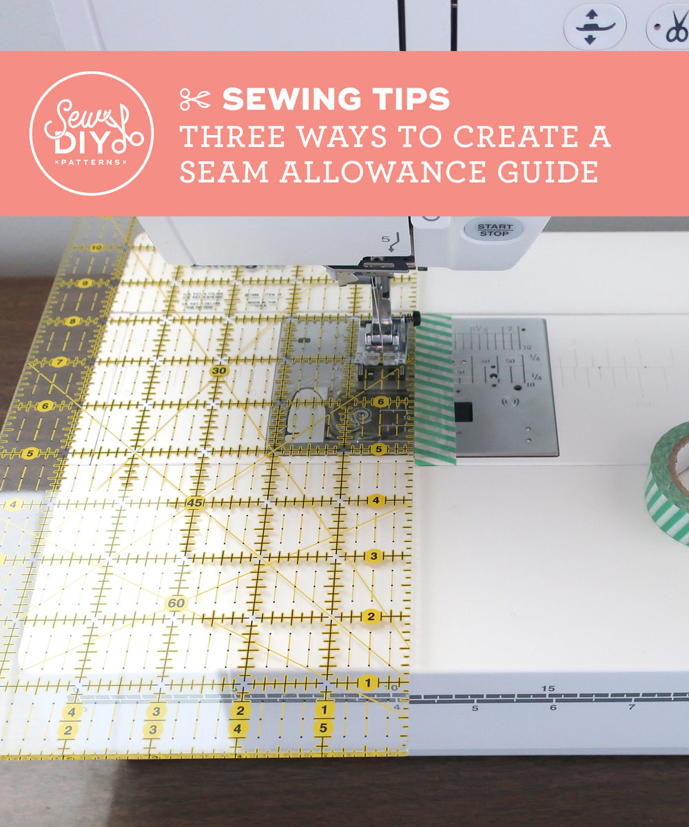 Three Ways to Create a Seam Allowance Guide, a Video tutorial from Sew DIY