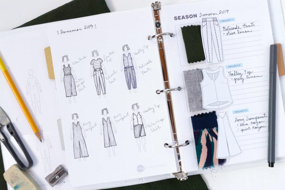 My Body Model Custom Croquis and Sew DIY PDF Sewing Planner