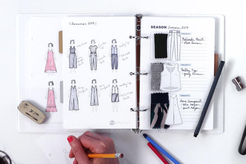 My Body Model Custom Fashion Croquis and Sew DIY PDF Printable Sewing Planner