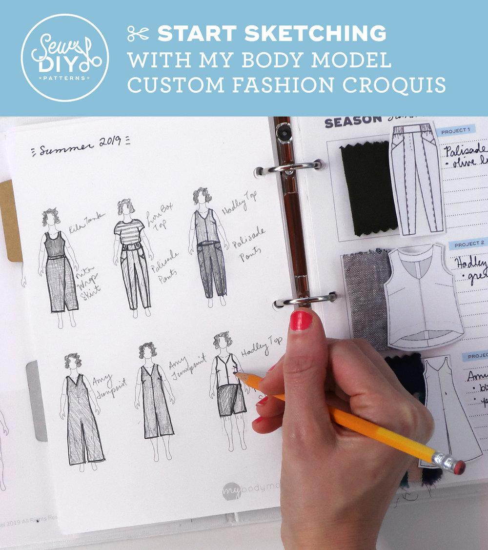 Start Sketching with My Body Model Custom Fashion Croquis